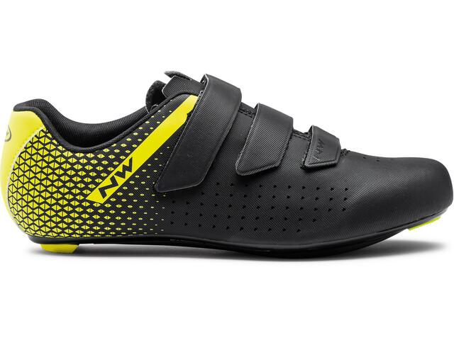 Northwave Core 2 Shoes Men black/yellow fluo